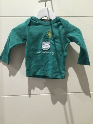 MILK ON THE ROCKS, Long Sleeve Top, Baby Boy, Size 12months