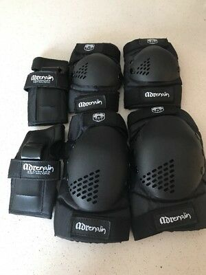 Adrenalin Knee,Elbow & Wrist Guards Hardly Used