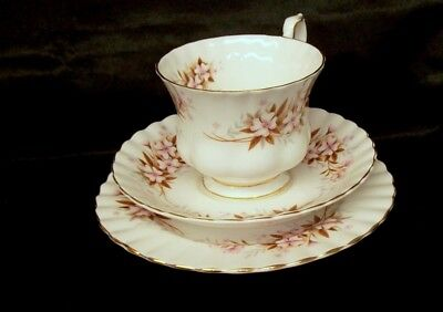 """Royal Albert Bone China """"Spring Song""""  Cup, Saucer & Side Plate"""