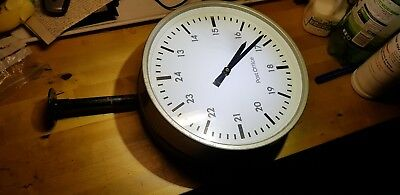 Vintage Industrial Post Office Clock CONVERTED TO BATTERY