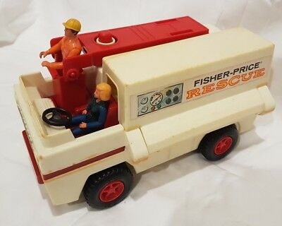 Vintage Fisher Price Rescue Truck 1980's