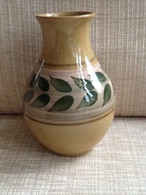 Vintage ,Collectable ' HOLKHAM ' Vase, Handpainted. Signed,Cyril Ruffles.