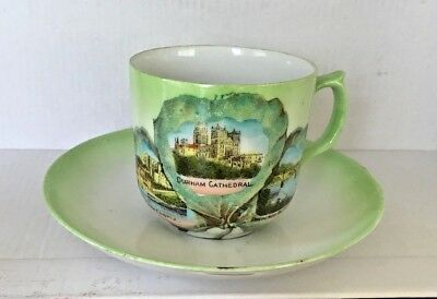 Antique DURHAM Cathedral CASTLE Prebends Bridge Commemorative CUP & SAUCER