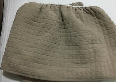 Linen House Double Quilted Bed Skirt Beige