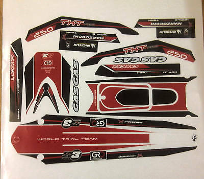 GasGas TXT Pro 2010 style  complete decal  set  .