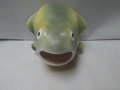 Pottery Frog Planter Scrubby Holder ~ Marked RS