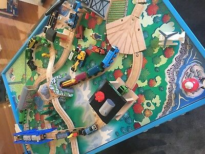 Thomas The Tank Engine Wooden Train Set And Table Plus Heaps Of Extras