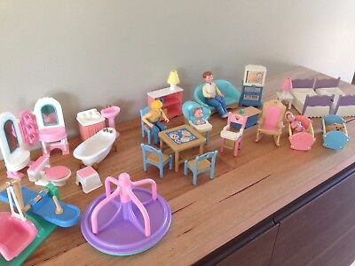Fisher Price Loving Family Dolls and Furniture