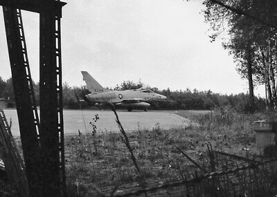 original aircraft negative 9873 USAF F100D 63318 old camo small neg 3x1,5mm 1965