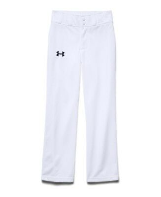 (XL (18-20 Big Kids), White/ Black) - Under Armour Boys' UA Clean Up Baseball