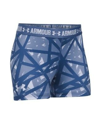 (Youth X-Small, Lavender Ice) - Under Armour Girls' HeatGear Armour Printed