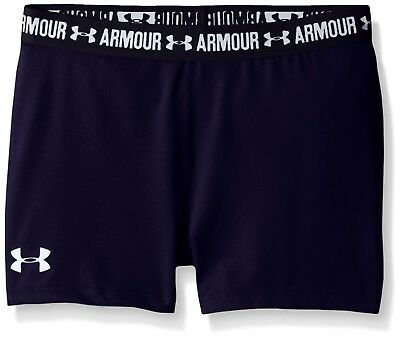 (Youth X-Small, Midnight Navy/white) - Under Armour Girls' HeatGear Armour