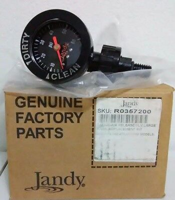 Jandy Zodiac OEM R0357200 Air Relief Pressure Release Valve and Gauge DEL/CL/CV