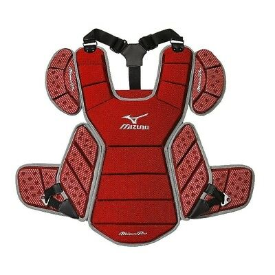 (Red Grey) - Mizuno Pro Chest Protector - Mpcp115. Unbranded. Huge Saving