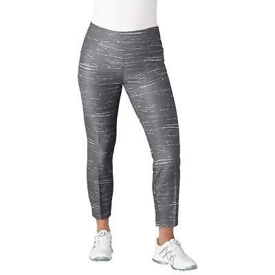 (Small, Trace Grey) - adidas Golf Women's Ultimate Adistar Printed Ankle Pants
