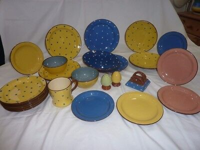 Torquay pottery Watcombe spotty and plain collection