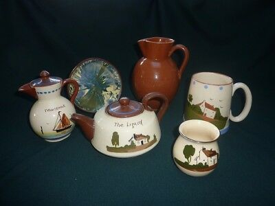 Torquay pottery collection of 6 mixed pieces