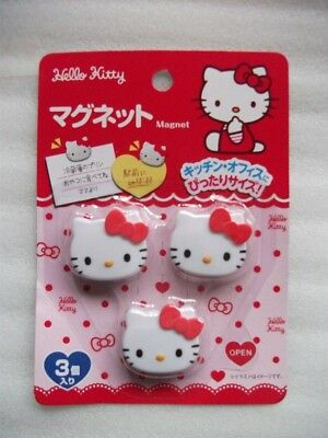 HELLO KITTY MAGNET 3 pieces  (Ferrite magnet · ABS resin)from JAPAN ship free