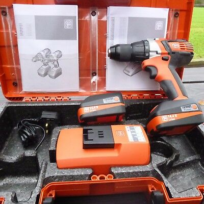 FEIN 14.4VOLT DRILL/DRIVER     2x 2.5 AH BATTERIES + CHARGER UNUSED
