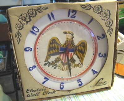 Vintage Lux Eagle Kitchen Clock New Old Stock