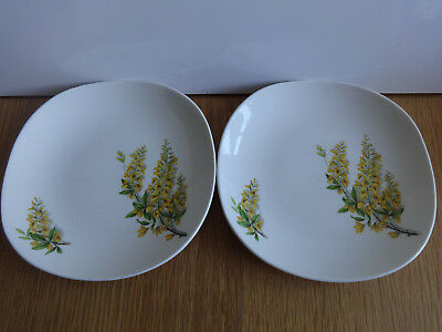 J & G MEAKIN Golden Chain SOL Bowl and 2 x Plates Vintage HTF Lovely Drawing