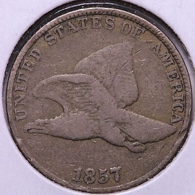 1857 Flying Eagle Cent Penny     FREE SHIPPING!  #ACL