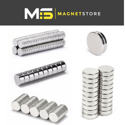 Small & Large magnets neodymium discs 2mm 3mm 4mm 5mm 6mm strong craft magnet