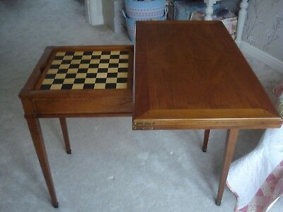 French Card Games Writing Table Desk Superb Quality with Chess Board Solid Wood