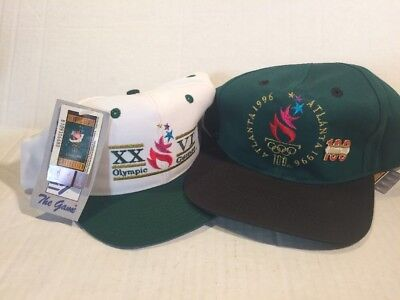 Vintage Lot Of 2 Hat Hats Cap 1996 OLYMPIC SUMMER GAMES Atlanta  Snapback NWT