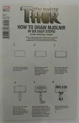 MIGHTY THOR #700 1st Printing - Zdarsky How to Draw Variant  ERROR / 2017 Marvel