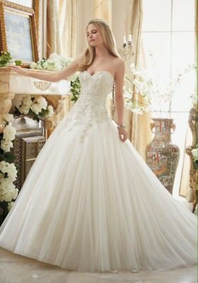 Mori Lee 2892 Uk 20 Ivory Bridal Dress (sample with no damage)