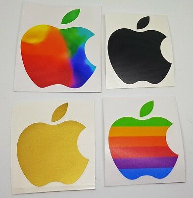 Apple Logo Sticker Decal Vinyl - Computer Old Retro New - NOT iMac iPad iPhone