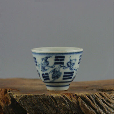 Old Chinese Qing Dynasty Blue and white porcelain Teacup Tea Cup Wine Cups