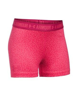 (Youth X-Large, Gala) - Under Armour Girls' HeatGear Armour Printed 7.6cm Shorty
