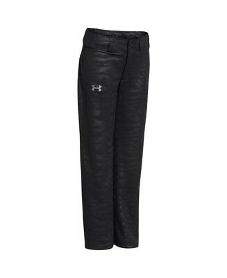 (Youth X-Large, Black/ Steel) - Under Armour Boys' UA Clean Up Baseball Pants