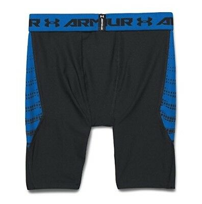 (X-Small, Black/Risk Red) - Under Armour Boys' HeatGear Armour Up Fitted