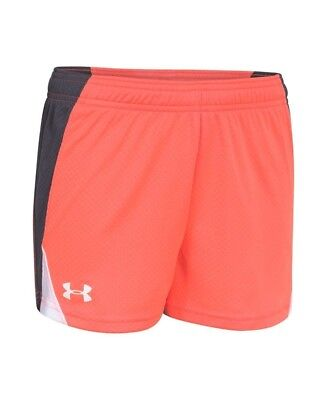 (X-Small, After Burn/Lead) - Under Armour Girls' UA Dominate Short