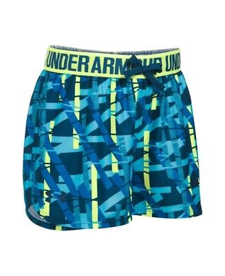 (Youth X-Small, Venetian Blue/Pale Moonlight) - Under Armour Girls' Play Up