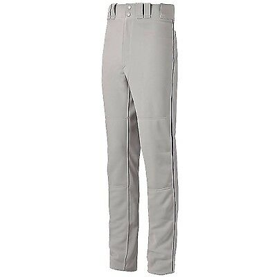(Small, Grey/Navy) - Mizuno Youth Global Elite Piped Pant. Unbranded