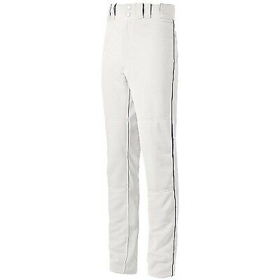 (Small, White/Navy) - Mizuno Youth Global Elite Piped Pant. Unbranded