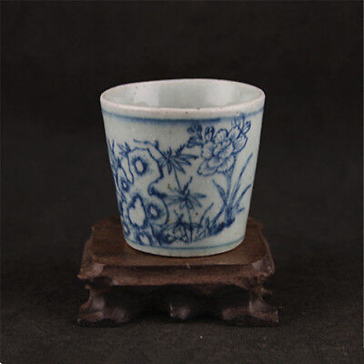 Old Chinese Qing Dynasty Blue and white porcelain Teacup Tea Cup Wine Cups A