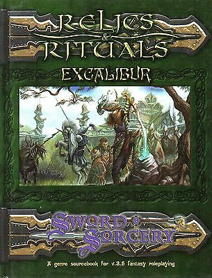 Sword & Sorcery-RELICS & RITUALS-EXCALIBUR-Fantasy RPG-Roleplaying Game-(HC)-new