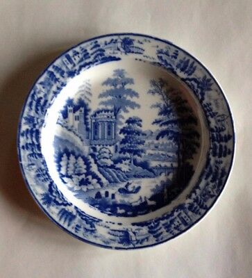 Leeds pottery (Hartley Greens) blue and white pearlware plate