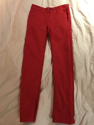 Red Boys Next Chinos Aged 10 Brand New