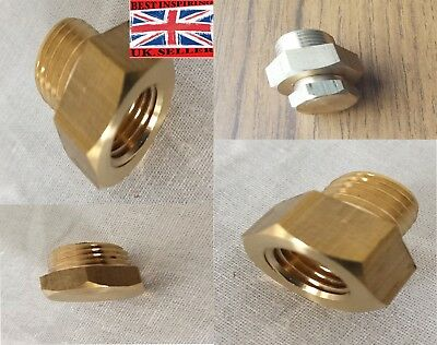 Metric 1/4,1/8 NPT Thread-Brass Sump Plug Adapter Sensor Gauge Oil Temperature