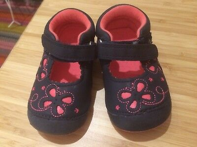 Mothercare Size 4 toddler shoes - Dark Blue & Pink - Excellent condition