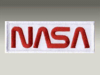 Toppa Patch Nasa Logo Space Agency Rettangolare Ricamata Termoadesiva