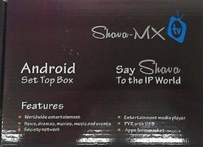 SHAVA MX TV Set Top Box Brand New Latest Model Android Worldwide  Entertainment