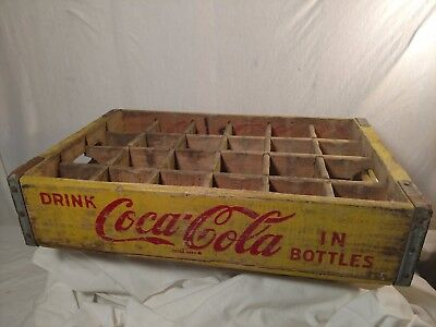 Coca-Cola wooden crate 1969 Chattanooga TN Great shape 24 glass coke bottles