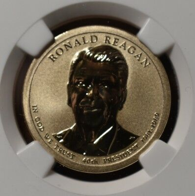 2016 S Reverse Proof Ronald Reagan Coin and Chronicle NGC PF 69